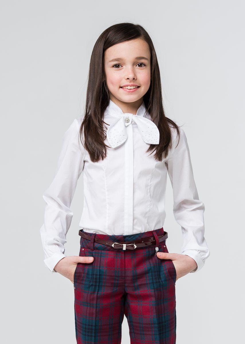 Блузка для девочки Silver Spoon, цвет: белый. SSFSG-629-23005-200. Размер 158  недорого
