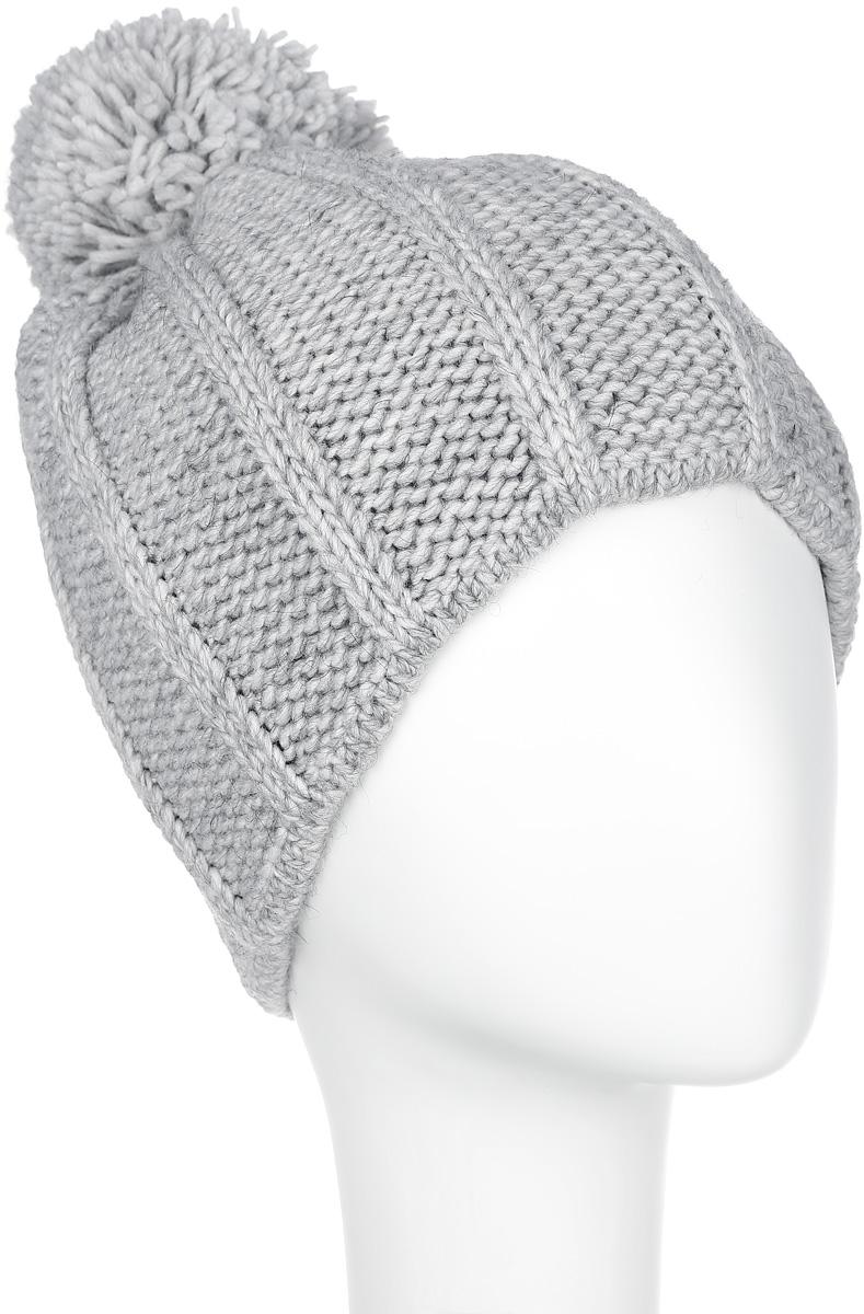 Шапка женская Flioraj, цвет: светло-серый. 7124S-22. Размер универсальный7124S-22Стильная женская шапка Flioraj отлично дополнит ваш образ в холодную погоду. Сочетание шерсти и акрила максимально сохраняет тепло и обеспечивает удобную посадку, невероятную легкость и мягкость. Модель оформлена крупной фигурной вязкой и дополнена помпоном.Привлекательная стильная шапка Flioraj подчеркнет ваш неповторимый стиль и индивидуальность.