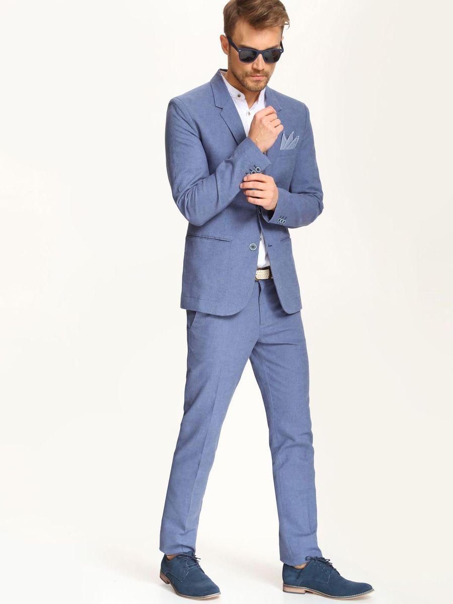 Брюки мужские Top Secret, цвет: темно-синий. SSP2234GR. Размер 36 (52)SSP2234GRСтильные мужские брюки Top Secret выполнены из льна с добавлением хлопка . Брюки на талии застегиваются на пуговицу, также имеются ширинка на застежке-молнии и шлевки для ремня. Спереди модель оснащена двумя втачными карманами со скошенными краями, а сзади двумя прорезными карманами.