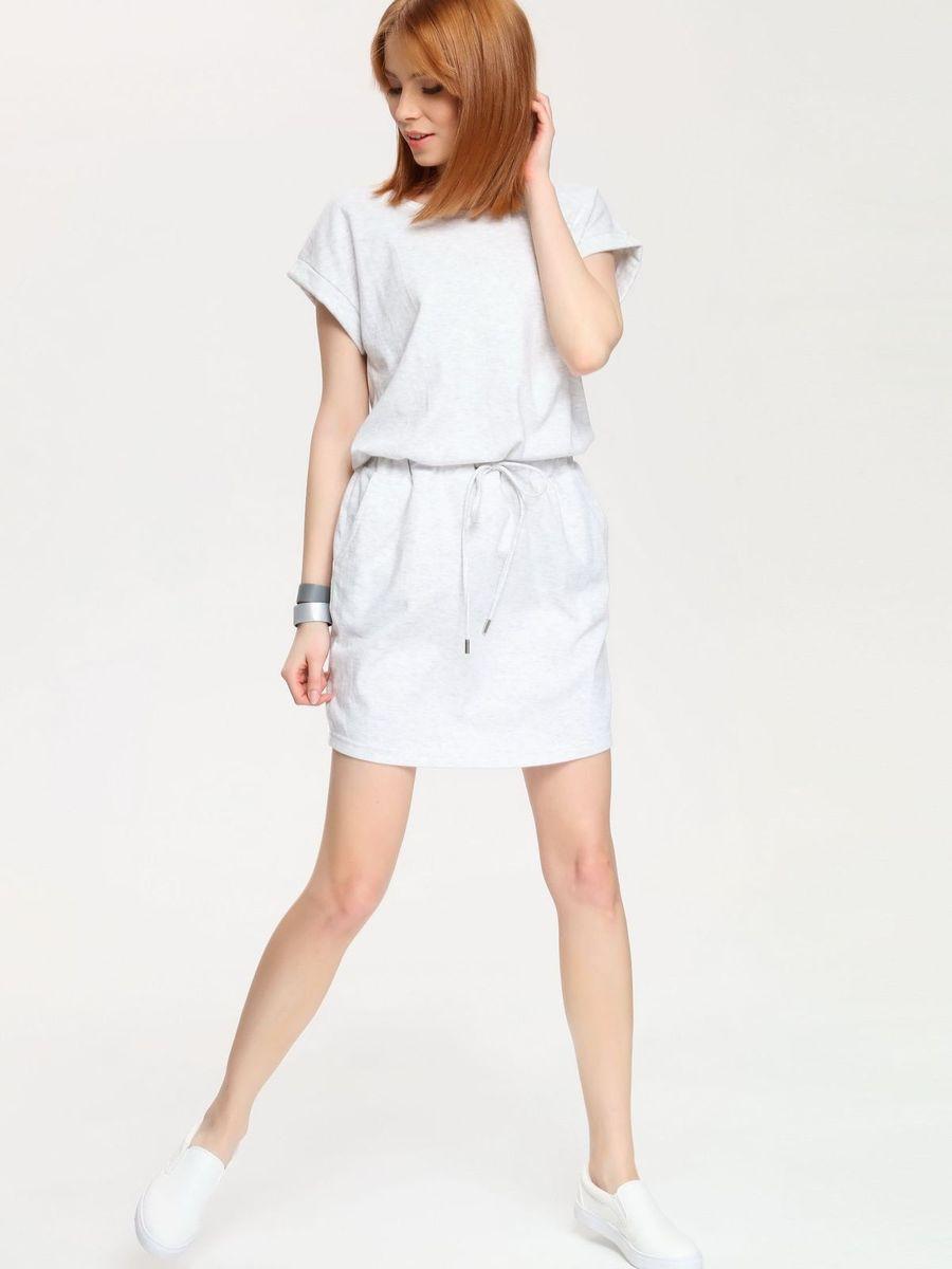 Платье Drywash, цвет: бело-серый меланж. DSU0044GB. Размер S (44)DSU0044GBСтильное платье Drywash выполнено из сочетания высококачественных материалов, а внутренняя сторона выполнена петельками. Модель с круглым вырезом горловины имеет короткие цельнокроеные рукава. В поясе платье дополнено эластичной резинкой с завязками-шнурками, а по бокам двумя втачными карманами.