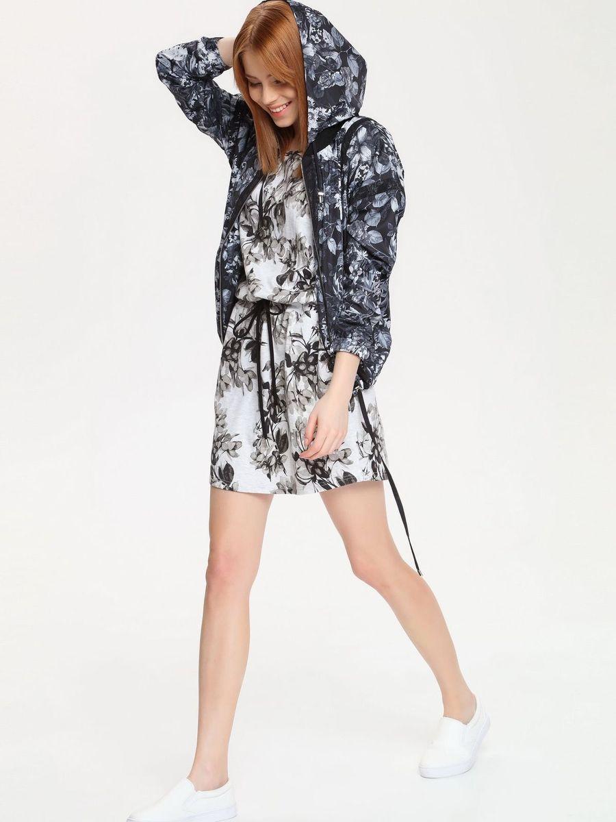 Платье Drywash, цвет: светло-серый, серо-бежевый. DSU0043GB. Размер M (46)DSU0043GBСтильное платье Drywash выполнено из сочетания высококачественных материалов, а внутренняя сторона выполнена петельками. Модель с круглым вырезом горловины имеет короткие цельнокроеные рукава. В поясе платье дополнено эластичной резинкой с завязками-шнурками, а по бокам двумя втачными карманами. Изделие оформлено контрастным цветочным принтом.
