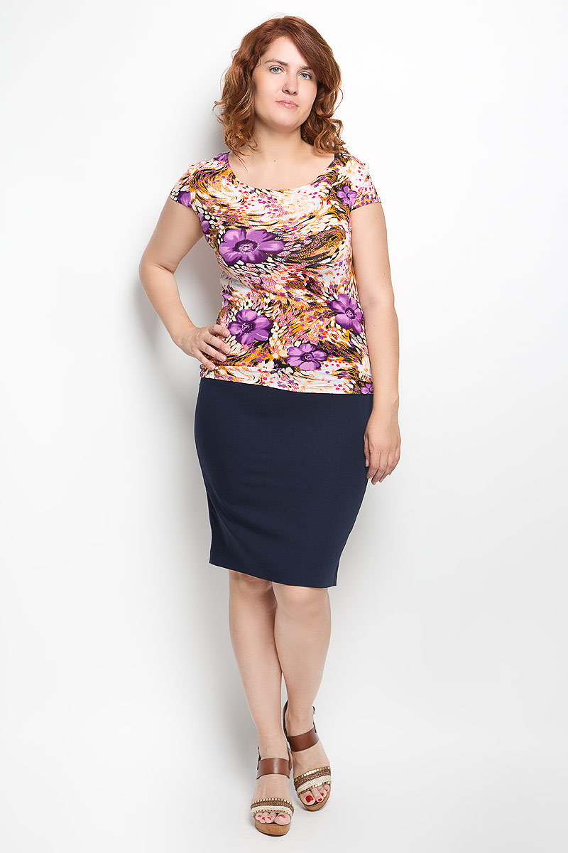 Юбка Milana Style, цвет: темно-синий. 30316. Размер 4230316Эффектная юбка-карандаш Milana Style выполнена из хлопка с добавлением полиамида, она обеспечит вам комфорт и удобство при носке. Такой материал обладает высокой гигроскопичностью, великолепно пропускает воздух и не раздражает кожуОднотонная юбка-карандаш застегивается на потайную застежку-молнию сбоку, на поясе имеются шлевки для ремня. Модная юбка выгодно освежит и разнообразит ваш гардероб. Создайте женственный образ и подчеркните свою яркую индивидуальность! Классический фасон и оригинальное оформление этой юбки позволят вам сочетать ее с любыми нарядами.