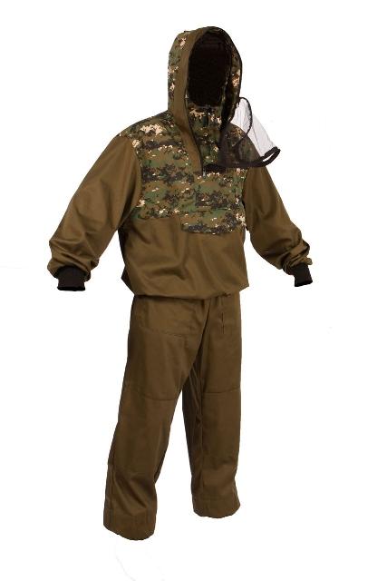 Костюм мужской противоэнцефалитный Тайга Север Штурм-Цифра, цвет: коричневый. 55804. Размер 56/58-170/176Костюм противоэнцефалитный Штурм-ЦифраКостюм состоит из куртки и брюк. Изготовлен из смесовых тканей с комбинацией однотонного цвета с лесными и камуфлированными расцветками. Куртка дополнена капюшоном с москитной сеткой.