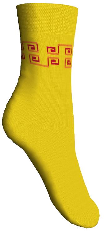 Носки детские Master Socks, цвет: желтый. 52007. Размер 1452007Мягкие детские носки Master Socks изготовлены из эластичного хлопка и полиамида. Ткань очень приятная на ощупь, хорошо тянется, не деформируясь. Эластичная резинка мягко облегает ножку ребенка, обеспечивая удобство и комфорт. Модель оформлена орнаментом контрастного цвета.Такие носочки станут отличным дополнением к детскому гардеробу!Уважаемые клиенты!Размер, доступный для заказа, является длиной стопы.