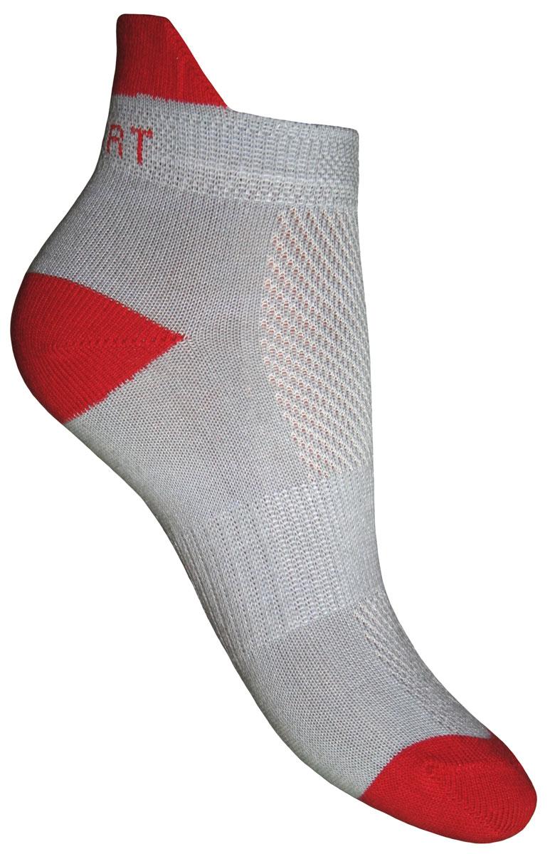 Носки детские Master Socks, цвет: серый, красный. 52056. Размер 2452056Спортивные детские носки Master Socks изготовлены из натурального хлопка и полиамида. Ткань легкая, тактильно приятная, хорошо пропускает воздух. Короткая модель носков имеет эластичную резинку с фигурным краем, которая мягко облегает ножку ребенка, обеспечивая удобство и комфорт. Изделие оформлено надписями. Удобные и прочные носочки станут отличным дополнением к детскому гардеробу!Уважаемые клиенты!Размер, доступный для заказа, является длиной стопы.
