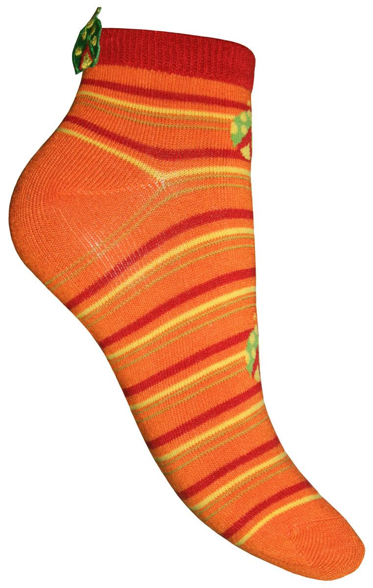 Носки для девочки Master Socks Sunny Kids, цвет: оранжевый. 82610. Размер 1882610Детские носки Master Socks Sunny Kids изготовлены из высококачественных материалов. Ткань очень мягкая и тактильно приятная. Содержание бамбука в составе обеспечивает высокую прочность, эластичность и воздухопроницаемость. Изделие хорошо стирается, длительное время сохраняет привлекательный внешний вид. Эластичная резинка мягко облегает ножку ребенка, обеспечивая удобство и комфорт. Укороченная модель оформлена принтом в полоску и изображением божьих коровок. Украшены носочки аппликацией в виде божьей коровки. Красивые и удобные носочки станут отличным дополнением к детскому гардеробу!Уважаемые клиенты!Размер, доступный для заказа, является длиной стопы.
