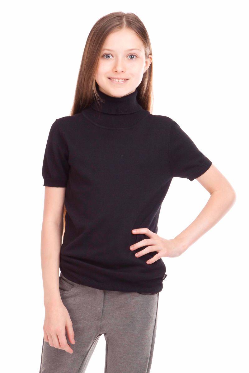 Водолазка для девочки Gulliver, цвет: черный. 21502GSC3203. Размер 146, 10-11 лет21502GSC3203Школьные водолазки занимают в деловом гардеробе ребенка важное место. В них удобно, комфортно, уютно, они не сковывают движений, позволяя ученице быть самой собой. Сложный состав пряжи, состоящий из вискозы, шерсти, хлопка и нейлона делает водолазку очень мягкой, шелковистой, приятной на ощупь.