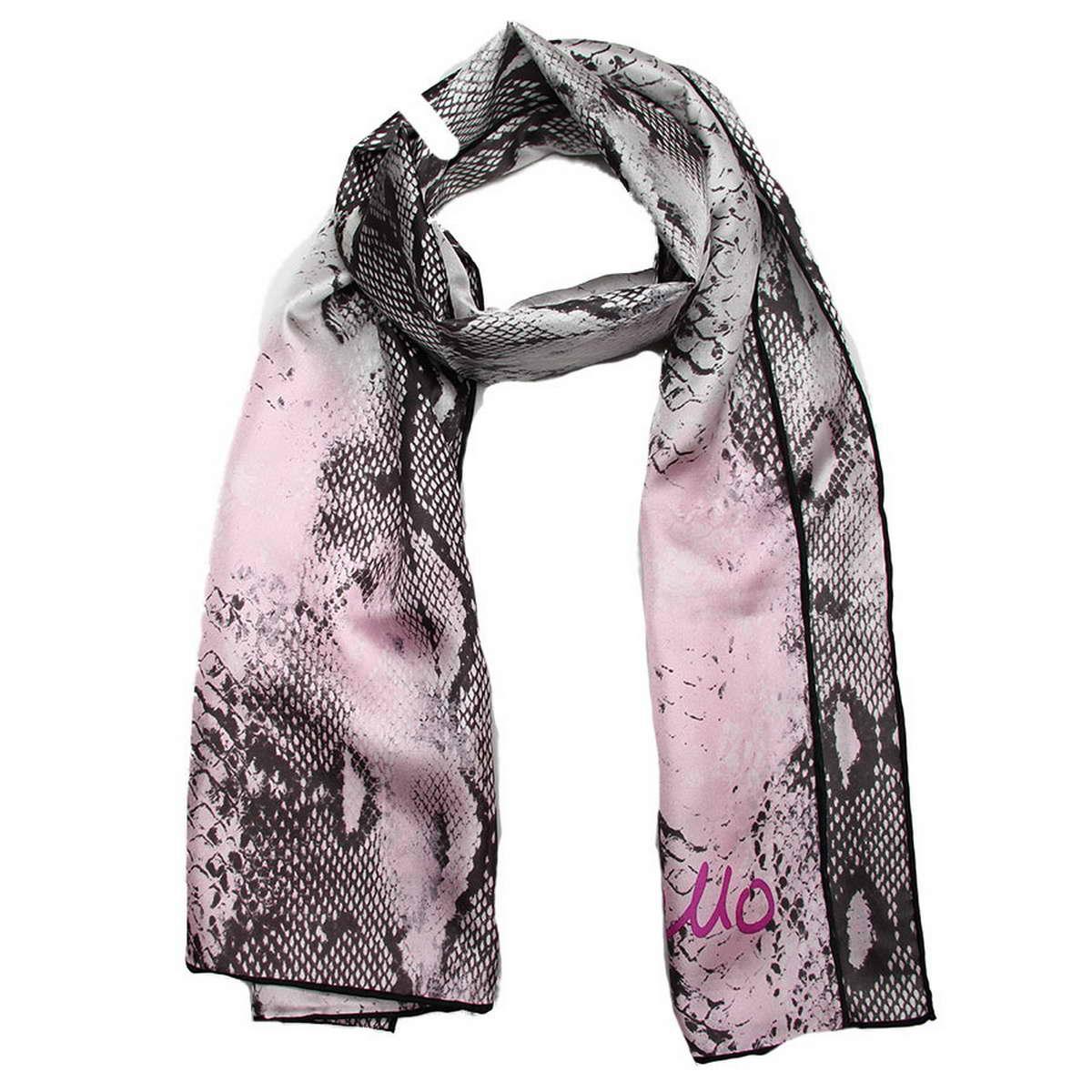 Шарф женский Codello, цвет: серый, черный, бледно-розовый. 4900471-2. Размер 45 см х 160 см4900471-2Стильный шарф Codello согреет вас в прохладную погоду и станет достойным завершением вашего образа. Шарф изготовлен из натурального шелка и оформлен оригинальным анималистическим принтом. Такой шарф красиво драпируется, а так же превосходно дополнит любой ваш наряд и подчеркнет изысканный вкус.