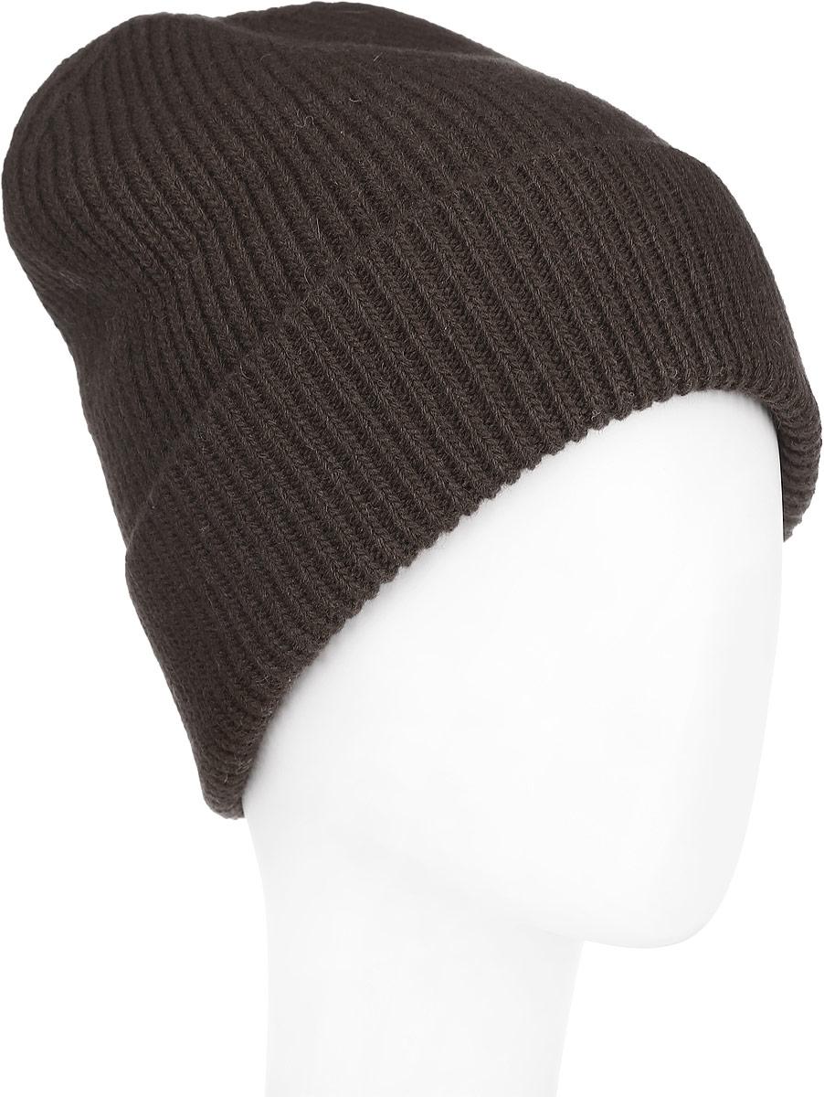 Шапка женская Venera, цвет: темно-коричневый. 9806087-19. Размер универсальный9806087-19Вязаная женская шапка Venera отлично дополнит ваш образ в холодную погоду. Шапка выполнена простой вязкой из мягкой пряжи, которая не доставит дискомфорта при носке. Сочетание шерсти и нейлона максимально сохраняет тепло и обеспечивает удобную посадку. Теплая шапка с отворотом станет отличным дополнением к вашему осеннему или зимнему гардеробу, в ней вам будет уютно и тепло!