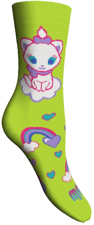 Носки женские Master Socks, цвет: зеленый. 15800. Размер 2315800Удобные носки Master Socks, изготовленные из высококачественного комбинированного материала, очень мягкие и приятные на ощупь, позволяют коже дышать.Эластичная резинка плотно облегает ногу, не сдавливая ее, обеспечивая комфорт и удобство. Носки оформлены принтом с изображением героев мультфильма.Практичные и комфортные носки великолепно подойдут к любой вашей обуви.