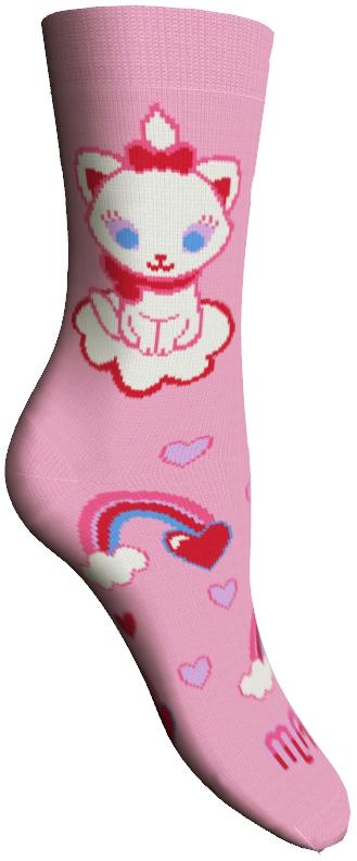 Носки женские Master Socks, цвет: розовый. 15800. Размер 2315800Удобные носки Master Socks, изготовленные из высококачественного комбинированного материала, очень мягкие и приятные на ощупь, позволяют коже дышать.Эластичная резинка плотно облегает ногу, не сдавливая ее, обеспечивая комфорт и удобство. Носки оформлены принтом с изображением героев мультфильма.Практичные и комфортные носки великолепно подойдут к любой вашей обуви.