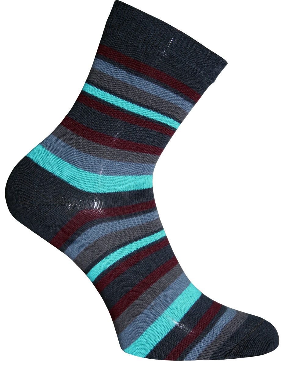 Носки женские Master Socks, цвет: темно-синий, мультиколор. 55002. Размер 2555002Удобные носки Master Socks, изготовленные из высококачественного комбинированного материала, очень мягкие и приятные на ощупь, позволяют коже дышать. Эластичная резинка плотно облегает ногу, не сдавливая ее, обеспечивая комфорт и удобство. Носки с паголенком классической длины оформлены принтом в полоску. Практичные и комфортные носки великолепно подойдут к любой вашей обуви.