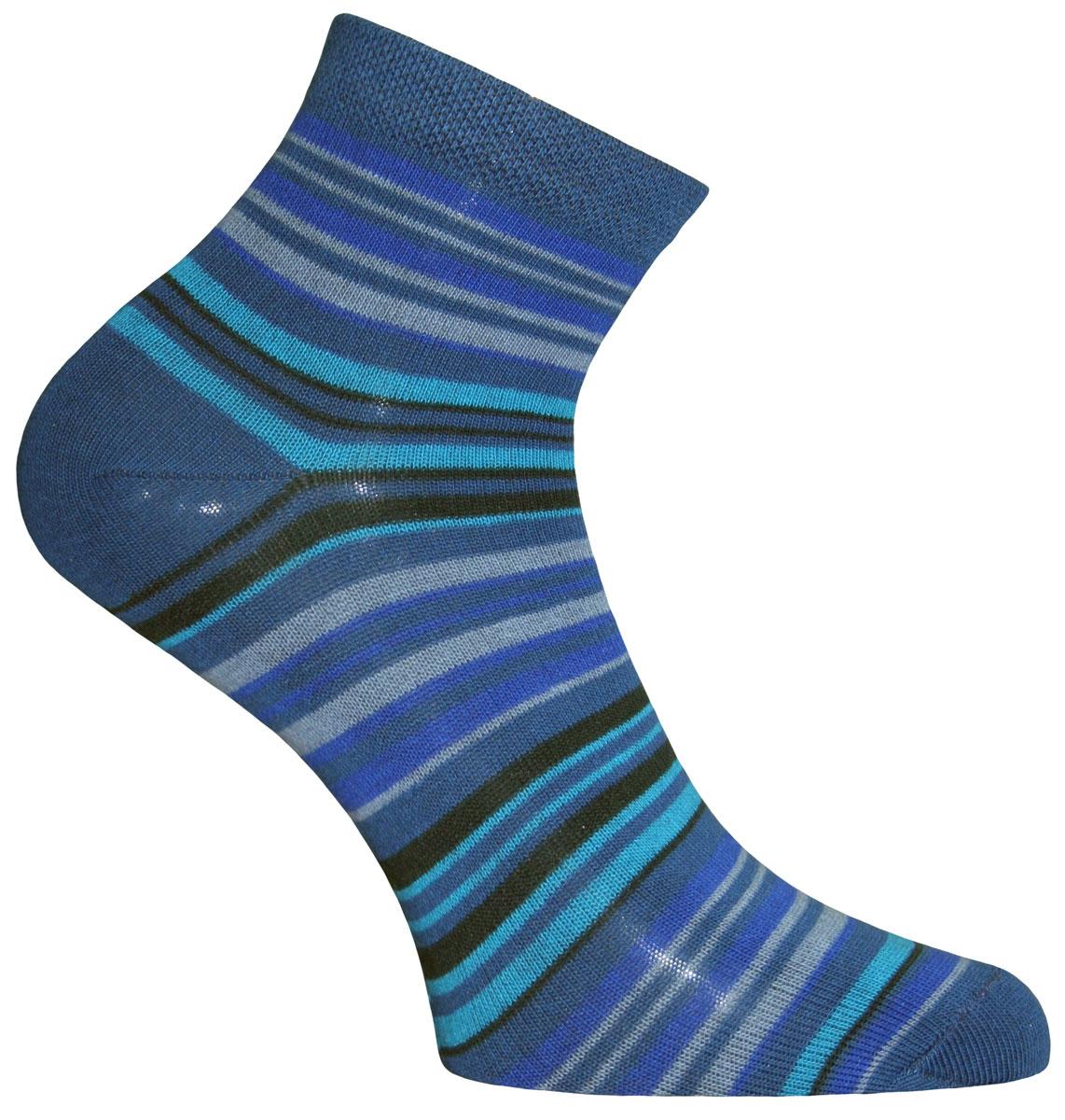 Носки женские Master Socks, цвет: синий, черный, серый. 55109. Размер 2555109Носки Master Socks изготовлены из индийского хлопка с добавлением полиамида и эластана, очень удобных и приятных при носке. Модель оформлена принтом в полоску. Эластичная резинка плотно облегает ногу, не сдавливая ее, обеспечивая комфорт и удобство.
