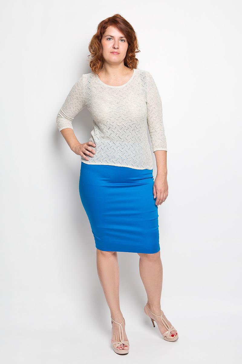 Юбка Milana Style, цвет: ярко-синий. 30316. Размер 5030316Эффектная юбка-карандаш Milana Style выполнена из хлопка с добавлением полиамида, она обеспечит вам комфорт и удобство при носке. Такой материал обладает высокой гигроскопичностью, великолепно пропускает воздух и не раздражает кожуОднотонная юбка-карандаш застегивается на потайную застежку-молнию сбоку, на поясе имеются шлевки для ремня. Модная юбка выгодно освежит и разнообразит ваш гардероб. Создайте женственный образ и подчеркните свою яркую индивидуальность! Классический фасон и оригинальное оформление этой юбки позволят вам сочетать ее с любыми нарядами.