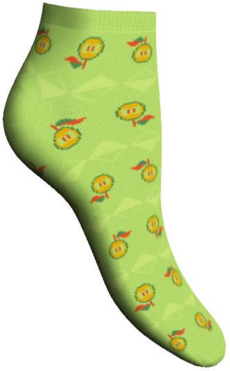 Носки женские Master Socks, цвет: зеленый. 85605. Размер 2585605Удобные укороченные носки Master Socks, изготовленные из высококачественного комбинированного материала, очень мягкие и приятные на ощупь, позволяют коже дышать.Эластичная резинка плотно облегает ногу, не сдавливая ее, обеспечивая комфорт и удобство. Носки дополнены полупрозрачным орнаментом с изображением яблока.Практичные и комфортные носки великолепно подойдут к любой вашей обуви.
