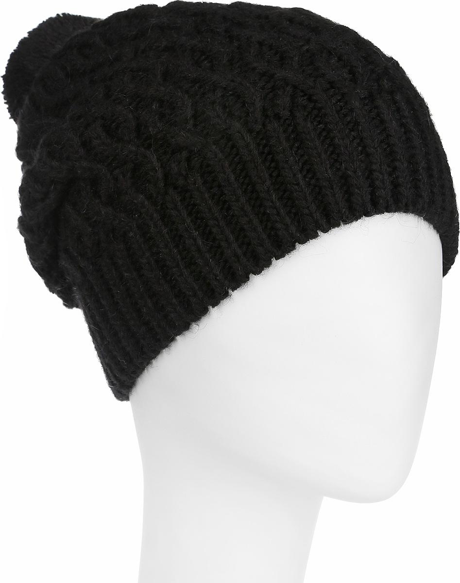 Шапка женская Flioraj, цвет: черный. 2-009-002. Размер 582-009-002Вязаная женская шапка Flioraj отлично дополнит ваш образ в холодную погоду. Шапка из мягкой пряжи, выполнена крупной вязкой с ажурными косами и дополнена вязкой в резинку по нижнему краю. Сочетание используемых материалов максимально сохраняет тепло и обеспечивает удобную посадку. Теплая шапка с помпоном станет отличным дополнением к вашему осеннему или зимнему гардеробу, в ней вам будет уютно и тепло!
