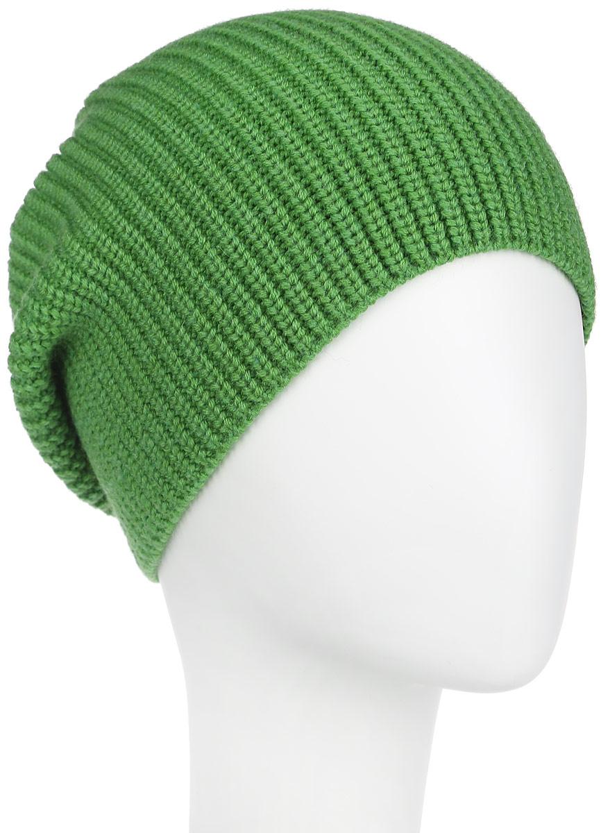 Шапка женская Flioraj, цвет: зеленый. 2-037-009. Размер 582-037-009Стильная женская шапка Flioraj дополнит ваш наряд и не позволит вам замерзнуть в холодное время года. Шапка выполнена из высококачественной комбинированной пряжи из шерсти и акрила, что позволяет ей великолепно сохранять тепло и обеспечивает высокую эластичность и удобство посадки. Классическая однотонная шапка связана с резинкой, она подойдет к любому наряду.Такая шапка станет модным и стильным дополнением вашего зимнего гардероба, великолепно подойдет для активного отдыха и занятия спортом. Она согреет вас и позволит вам подчеркнуть свою индивидуальность!Уважаемые клиенты!Размер, доступный для заказа, является обхватом головы.