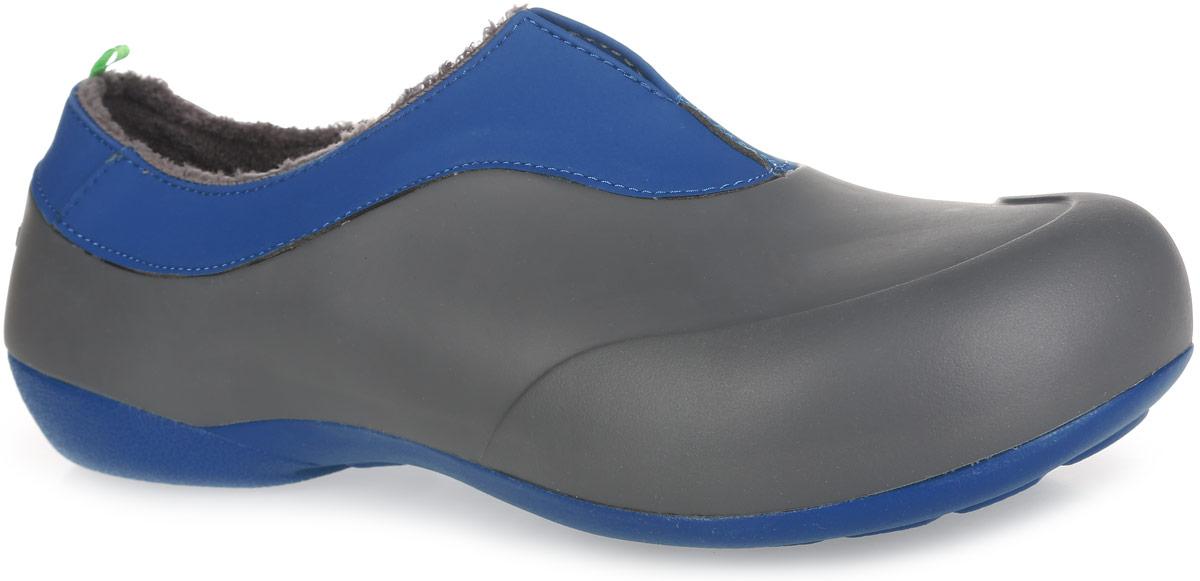 Галоши мужские Gow, цвет: серый, синий. GW-1M. Размер 40GW-1MОчень легкие галоши от Gow с закрытой пяткой и закрытым мыском, выполненные из ЭВА материала - это превосходный вид обуви. Модель имеет несъемный утеплитель удобный для одевания и снимания, который защитит ваши ноги от зябкого межсезонья.Материал ЭВА имеет пористую структуру, обладает великолепными теплоизоляционными и морозостойкими свойствами, 100% водонепроницаемостью, придает обуви амортизационные свойства, мягкость при ходьбе, устойчивость к истиранию подошвы. Рельефное основание подошвы обеспечивает уверенное сцепление с любой поверхностью.Удобные галоши прекрасно подойдут для работы в огороде, а также для носки в непогоду.