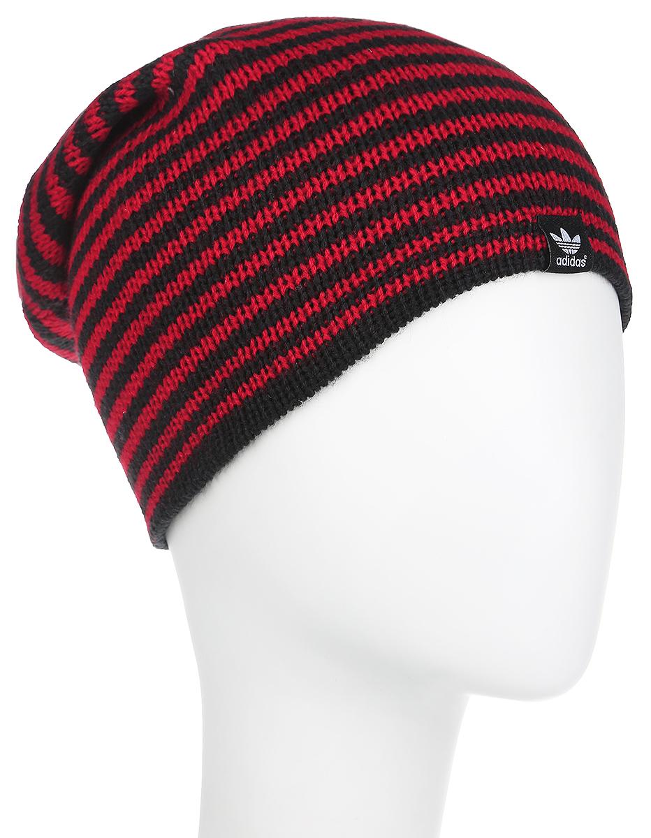 Шапка женская Adidas Beanie Rev ST, цвет: красный, черный. X52120. Размер 58/60X52120Вязаная женская шапка Adidas Beanie Rev ST идеально подойдет для вас в прохладную погоду. Изготовленная из акрила, она мягкая и приятная на ощупь, максимально удерживает тепло. Шапочка двойная, плотно облегает голову, благодаря чему надежно защищает от ветра и мороза.Удлиненная модель шапки в полоску оформлена небольшой нашивкой с логотипом бренда. Такой стильный и теплый головной убор дополнит ваш образ и подчеркнет индивидуальность!Уважаемые клиенты!Размер, доступный для заказа, является обхватом головы.