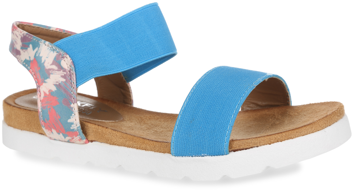 Сандалии для девочки MakFly, цвет: бирюзовый. 01-116-030. Размер 3201-116-030Модные сандалии от MakFly не оставят равнодушной вашу девочку! Модель изготовлена из комбинации искусственной кожи и текстиля. Пяточный ремешок, дополненный эластичной вставкой, надежно зафиксирует обувь на ноге. Приятная на ощупь стелька из искусственной кожи обеспечит комфорт при движении. Подошва с рифлением обеспечивает отличное сцепление с поверхностью. Практичные и стильные сандалии займут достойное место в гардеробе вашей девочки.