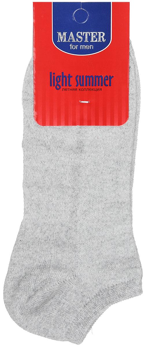 Носки мужские Master Socks, цвет: светло-серый. 58059. Размер 2958059Удобные носки Master Socks, изготовленные из высококачественного комбинированного материала, очень мягкие и приятные на ощупь, позволяют коже дышать. Эластичная резинка плотно облегает ногу, не сдавливая ее, обеспечивая комфорт и удобство. Носки с укороченным паголенком. Удобные и комфортные носки великолепно подойдут к любой вашей обуви.