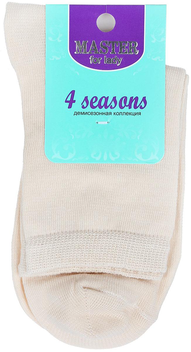 Носки женские Master Socks, цвет: бежевый. 55001. Размер 2355001Удобные носки Master Socks, изготовленные из высококачественного комбинированного материала, очень мягкие и приятные на ощупь, позволяют коже дышать. Эластичная резинка плотно облегает ногу, не сдавливая ее, обеспечивая комфорт и удобство. Носки с паголенком классической длины. Практичные и комфортные носки великолепно подойдут к любой вашей обуви.
