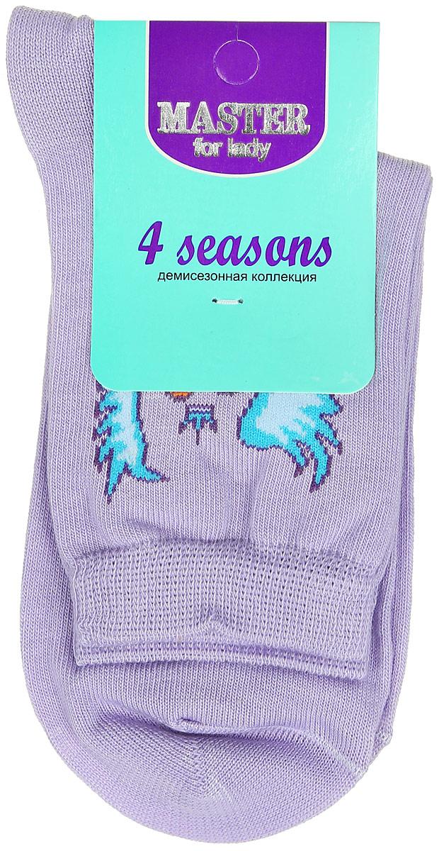 Носки женские Master Socks, цвет: сиреневый. 55003. Размер 2555003Удобные носки Master Socks, изготовленные из высококачественного комбинированного материала, очень мягкие и приятные на ощупь, позволяют коже дышать. Эластичная резинка плотно облегает ногу, не сдавливая ее, обеспечивая комфорт и удобство. Носки с паголенком классической длины оформлены оригинальным рисунком в виде сердец. Практичные и комфортные носки великолепно подойдут к любой вашей обуви.