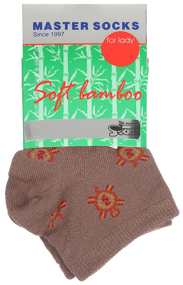 Носки женские Master Socks, цвет: светло-коричневый. 85605. Размер 2385605Удобные укороченные носки Master Socks, изготовленные из высококачественного комбинированного материала, очень мягкие и приятные на ощупь, позволяют коже дышать.Эластичная резинка плотно облегает ногу, не сдавливая ее, обеспечивая комфорт и удобство. Носки дополнены полупрозрачным орнаментом с изображением черепахи.Практичные и комфортные носки великолепно подойдут к любой вашей обуви.