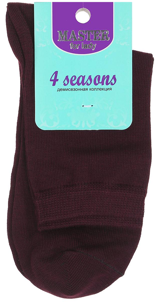 Носки женские Master Socks, цвет: сливовый. 55001. Размер 2355001Удобные носки Master Socks, изготовленные из высококачественного комбинированного материала, очень мягкие и приятные на ощупь, позволяют коже дышать. Эластичная резинка плотно облегает ногу, не сдавливая ее, обеспечивая комфорт и удобство. Носки с паголенком классической длины. Практичные и комфортные носки великолепно подойдут к любой вашей обуви.