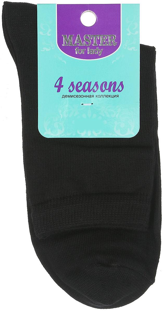 Носки женские Master Socks, цвет: черный. 55001. Размер 2555001Удобные носки Master Socks, изготовленные из высококачественного комбинированного материала, очень мягкие и приятные на ощупь, позволяют коже дышать. Эластичная резинка плотно облегает ногу, не сдавливая ее, обеспечивая комфорт и удобство. Носки с паголенком классической длины. Практичные и комфортные носки великолепно подойдут к любой вашей обуви.