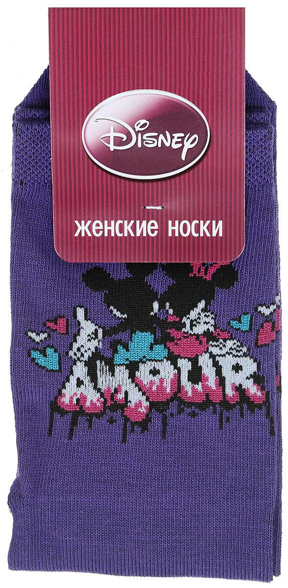 Носки женские Master Socks, цвет: сиреневый. 15101. Размер 2315101Удобные носки Master Socks, изготовленные из высококачественного комбинированного материала, очень мягкие и приятные на ощупь, позволяют коже дышать.Эластичная резинка плотно облегает ногу, не сдавливая ее, обеспечивая комфорт и удобство. Носки оформлены принтом с изображением героев мультфильма.Практичные и комфортные носки великолепно подойдут к любой вашей обуви.