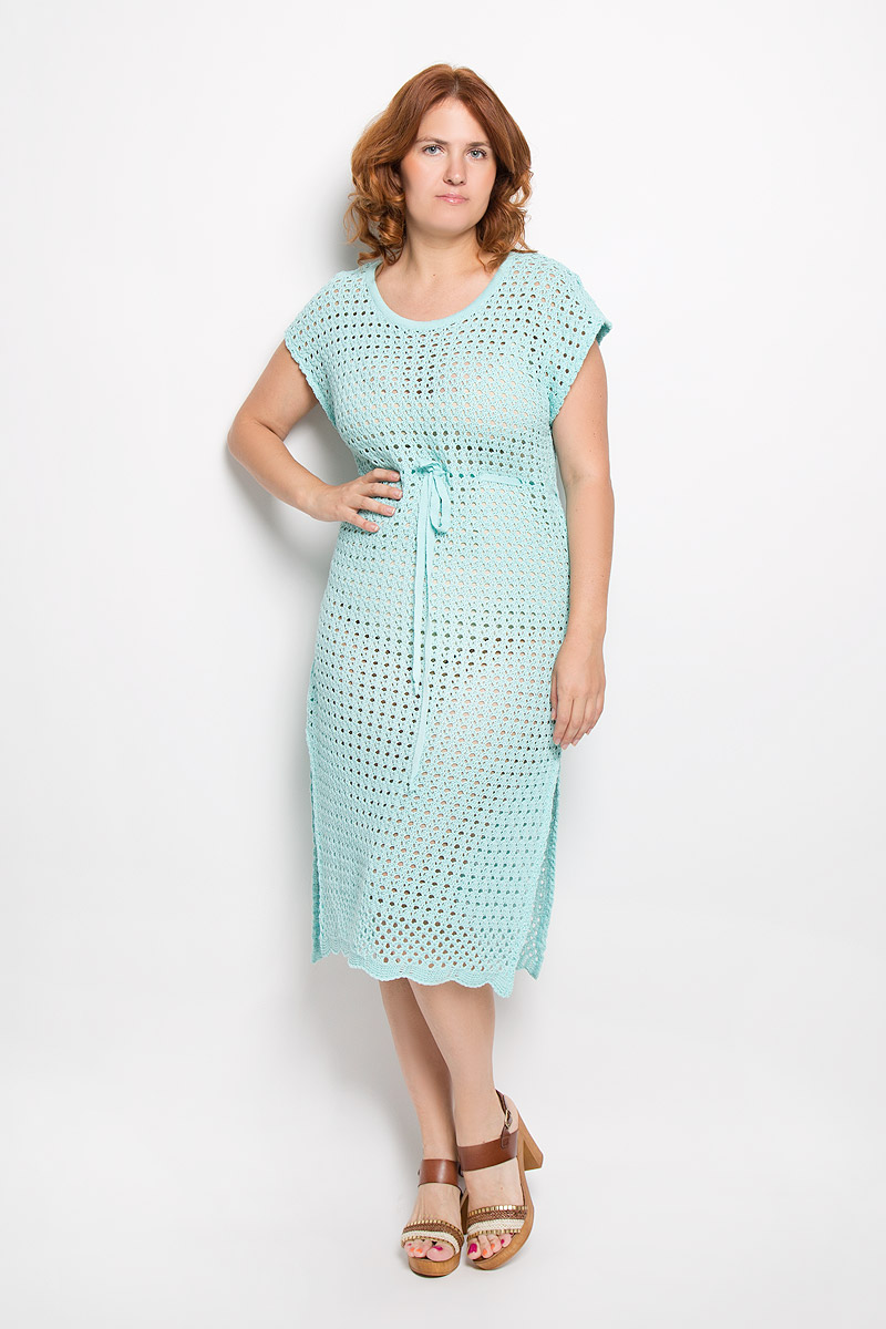 Платье Milana Style, цвет: мятный. w280. Размер 52w280