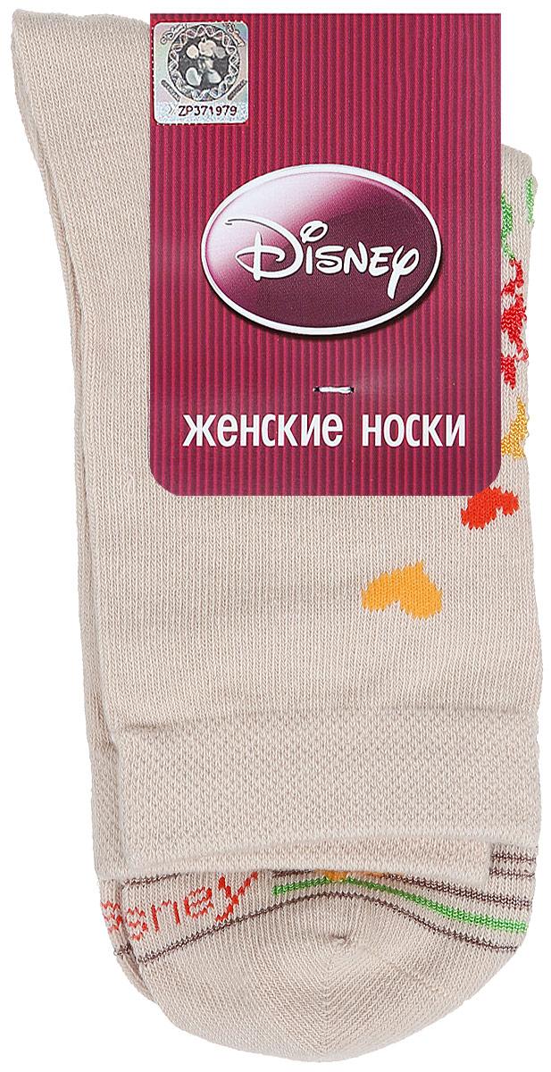 Носки женские Master Socks, цвет: бежевый. 15100. Размер 2315100Удобные носки Master Socks, изготовленные из высококачественного комбинированного материала, очень мягкие и приятные на ощупь, позволяют коже дышать.Эластичная резинка плотно облегает ногу, не сдавливая ее, обеспечивая комфорт и удобство. Носки оформлены принтом с изображением героев мультфильма.Практичные и комфортные носки великолепно подойдут к любой вашей обуви.