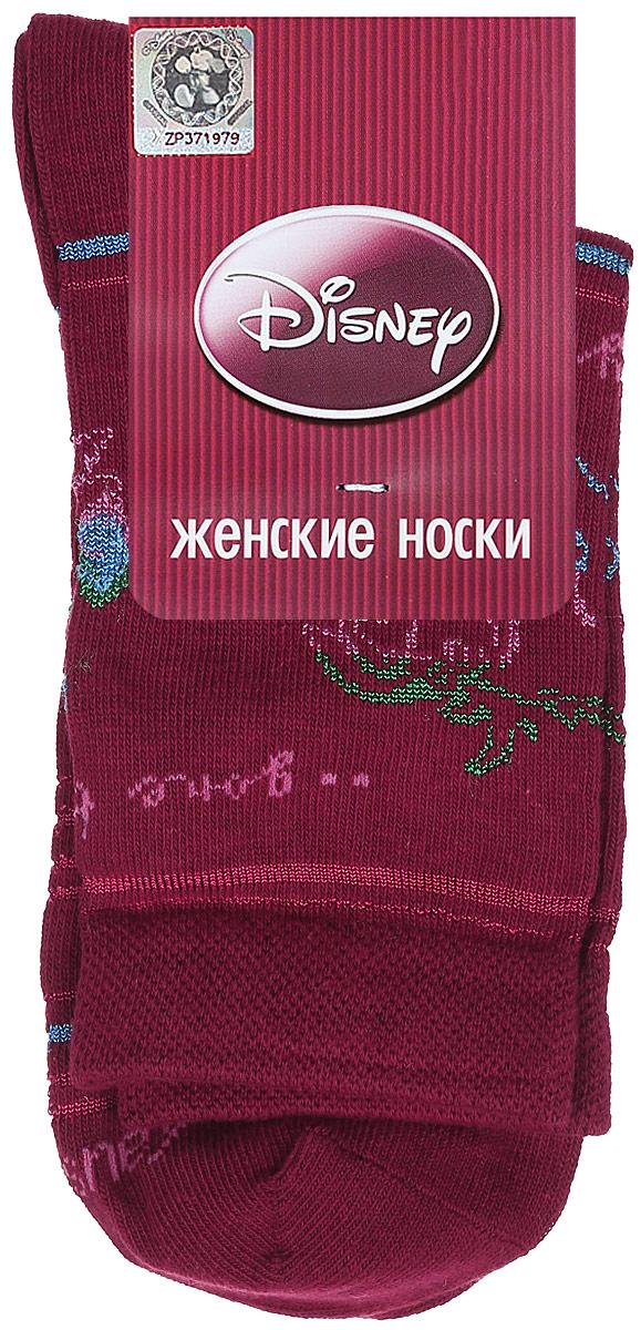 Носки женские Master Socks, цвет: бордовый. 15100. Размер 2515100Удобные носки Master Socks, изготовленные из высококачественного комбинированного материала, очень мягкие и приятные на ощупь, позволяют коже дышать.Эластичная резинка плотно облегает ногу, не сдавливая ее, обеспечивая комфорт и удобство. Носки оформлены принтом с изображением героев мультфильма.Практичные и комфортные носки великолепно подойдут к любой вашей обуви.