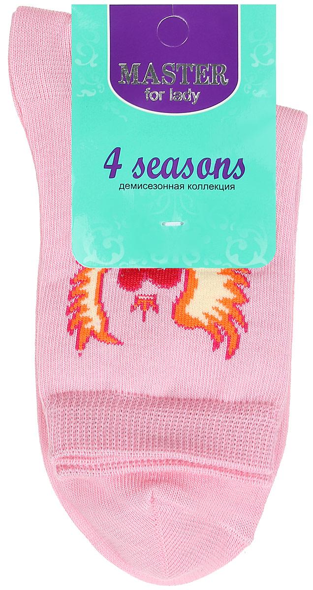 Носки женские Master Socks, цвет: розовый. 55003. Размер 2555003Удобные носки Master Socks, изготовленные из высококачественного комбинированного материала, очень мягкие и приятные на ощупь, позволяют коже дышать. Эластичная резинка плотно облегает ногу, не сдавливая ее, обеспечивая комфорт и удобство. Носки с паголенком классической длины оформлены оригинальным рисунком в виде сердец. Практичные и комфортные носки великолепно подойдут к любой вашей обуви.