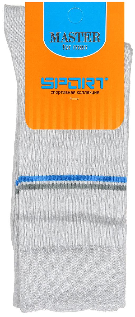 Носки мужские Master Socks, цвет: светло-серый. 58902. Размер 2558902Удобные носки Master Socks, изготовленные из высококачественного комбинированного материала, очень мягкие и приятные на ощупь, позволяют коже дышать. Эластичная резинка плотно облегает ногу, не сдавливая ее, обеспечивая комфорт и удобство. Носки с паголенком классической длины оформлены двумя полосками контрастного цвета в верхней части носка. Практичные и комфортные носки великолепно подойдут к любой вашей обуви.