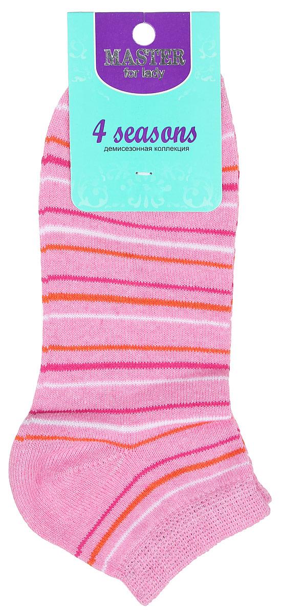 Носки женские Master Socks, цвет: розовый, белый, оранжевый, малиновый. 55103. Размер 2555103Удобные носки Master Socks, изготовленные из высококачественного комбинированного материала, очень мягкие и приятные на ощупь, позволяют коже дышать. Эластичная резинка плотно облегает ногу, не сдавливая ее, обеспечивая комфорт и удобство. Носки с укороченным паголенком и полупрозрачными полосками на верхней части носка. Модель оформлена принтом в полоску.Удобные и комфортные носки великолепно подойдут к любой вашей обуви.