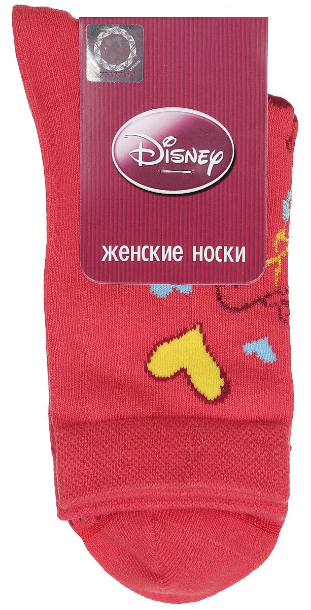 Носки женские Master Socks, цвет: красный. 15100. Размер 2315100Удобные носки Master Socks, изготовленные из высококачественного комбинированного материала, очень мягкие и приятные на ощупь, позволяют коже дышать.Эластичная резинка плотно облегает ногу, не сдавливая ее, обеспечивая комфорт и удобство. Носки оформлены принтом с изображением героев мультфильма.Практичные и комфортные носки великолепно подойдут к любой вашей обуви.