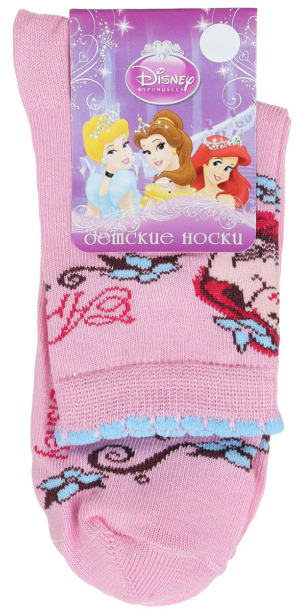 Носки для девочки Master Socks Disney Princess, цвет: розовый. 12200. Размер 2012200Детские носки Master Socks Disney Princess выполнены из эластичного хлопка с добавлением полиамида. Материал изделия тактильно приятный, хорошо тянется, не деформируясь.Эластичная резинка мягко облегает ножку ребенка, обеспечивая удобство и комфорт. Модель с фигурными краями украшена изображением принцессы Ариэль. Такие носочки станут отличным дополнением к гардеробу маленькой поклонницы мультфильма студии Disney! Уважаемые клиенты!Размер, доступный для заказа, является длиной стопы.