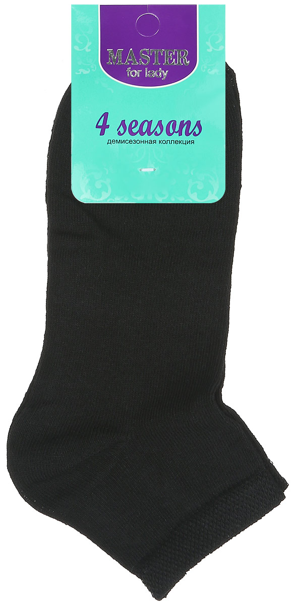 Носки женские Master Socks, цвет: черный. 55101. Размер 2555101Удобные носки Master Socks, изготовленные из высококачественного комбинированного материала, очень мягкие и приятные на ощупь, позволяют коже дышать. Эластичная резинка плотно облегает ногу, не сдавливая ее, обеспечивая комфорт и удобство. Носки с укороченным паголенком и полупрозрачными полосками на верхней части носка. Удобные и комфортные носки великолепно подойдут к любой вашей обуви.