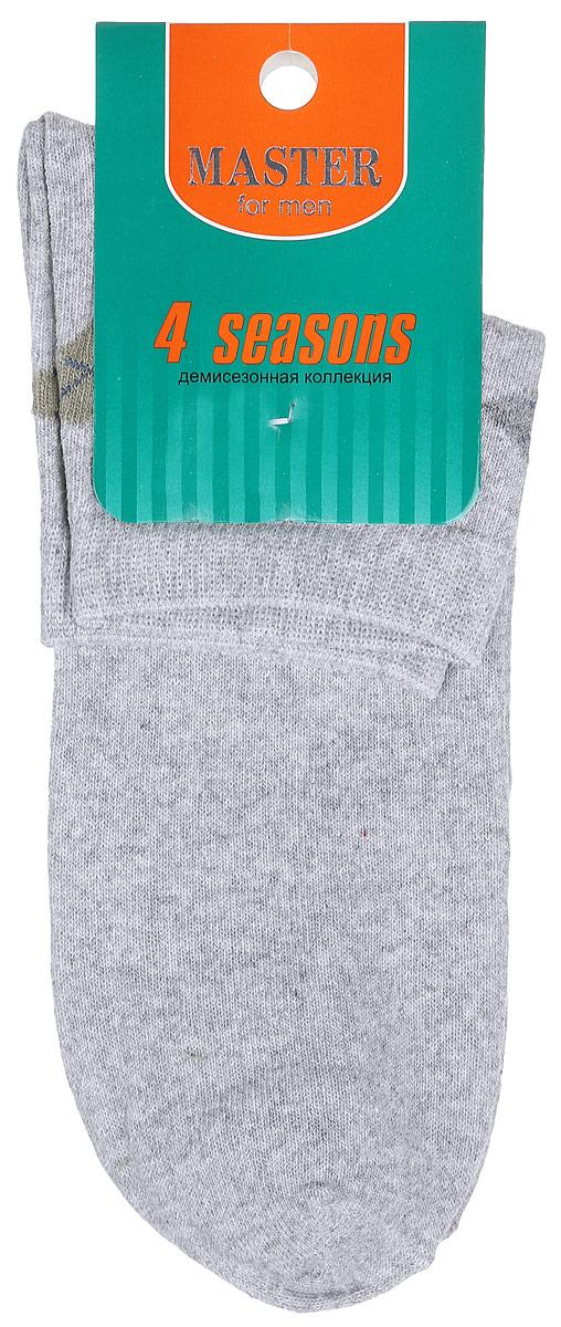 Носки мужские Master Socks, цвет: светло-серый. 58034. Размер 2758034Удобные носки Master Socks, изготовленные из высококачественного комбинированного материала, очень мягкие и приятные на ощупь, позволяют коже дышать. Эластичная резинка плотно облегает ногу, не сдавливая ее, обеспечивая комфорт и удобство. Носки с укороченным паголенком оформлены геометрическим принтом на верхней части носка. Удобные и комфортные носки великолепно подойдут к любой вашей обуви.
