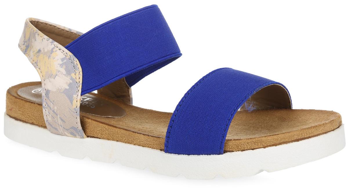 Сандалии для девочки MakFly, цвет: темно-синий. 01-116-035. Размер 3001-116-035Модные сандалии от MakFly не оставят равнодушной вашу девочку! Модель изготовлена из комбинации искусственной кожи и текстиля. Пяточный ремешок, дополненный эластичной вставкой, надежно зафиксирует обувь на ноге. Приятная на ощупь стелька из искусственной кожи обеспечит комфорт при движении. Подошва с рифлением обеспечивает отличное сцепление с поверхностью. Практичные и стильные сандалии займут достойное место в гардеробе вашей девочки.