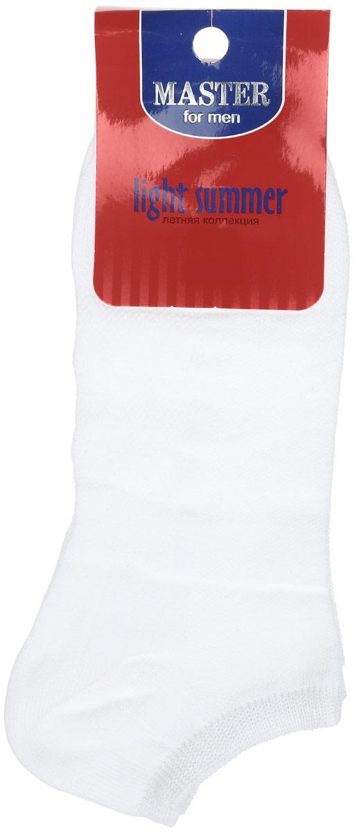 Носки мужские Master Socks, цвет: белый. 58059. Размер 2758059Удобные носки Master Socks, изготовленные из высококачественного комбинированного материала, очень мягкие и приятные на ощупь, позволяют коже дышать. Эластичная резинка плотно облегает ногу, не сдавливая ее, обеспечивая комфорт и удобство. Носки с укороченным паголенком. Удобные и комфортные носки великолепно подойдут к любой вашей обуви.