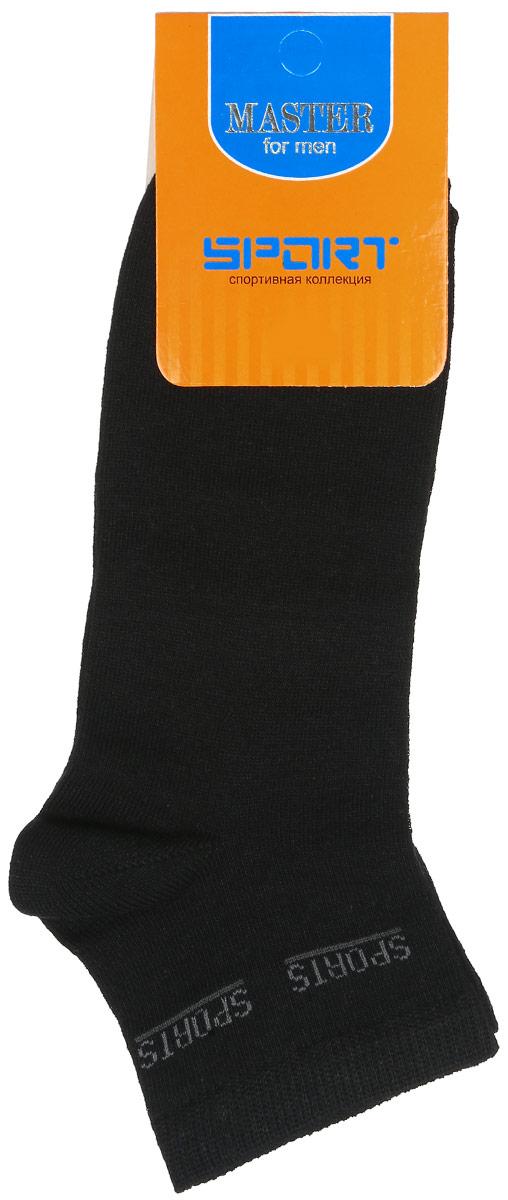 Носки мужские Master Socks, цвет: черный. 58907. Размер 2958907Удобные носки Master Socks, изготовленные из высококачественного комбинированного материала, очень мягкие и приятные на ощупь, позволяют коже дышать. Эластичная резинка плотно облегает ногу, не сдавливая ее, обеспечивая комфорт и удобство. Носки с укороченным паголенком и надписью Sports на верхней части носка. Удобные и комфортные носки великолепно подойдут к любой вашей обуви.