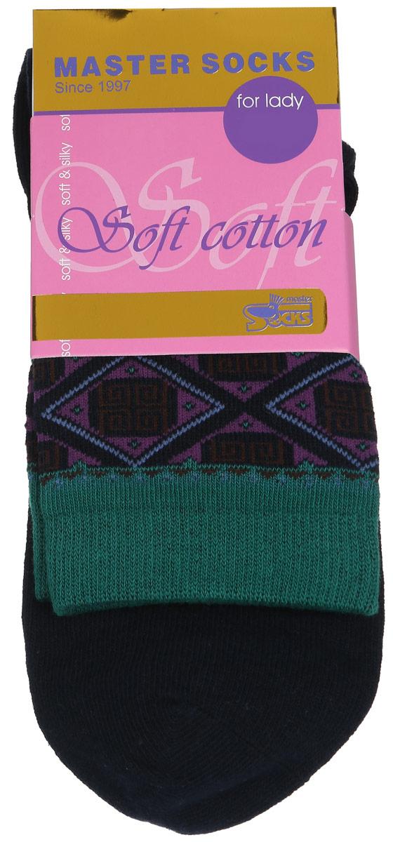 Носки женские Master Socks, цвет: синий. 85010. Размер 2585010Удобные носки Master Socks, изготовленные из высококачественного комбинированного материала, очень мягкие и приятные на ощупь, позволяют коже дышать.Эластичная резинка плотно облегает ногу, не сдавливая ее, обеспечивая комфорт и удобство. Модель с стандартным паголенком оформлена оригинальным принтом.Удобные и комфортные носки великолепно подойдут к любой вашей обуви.