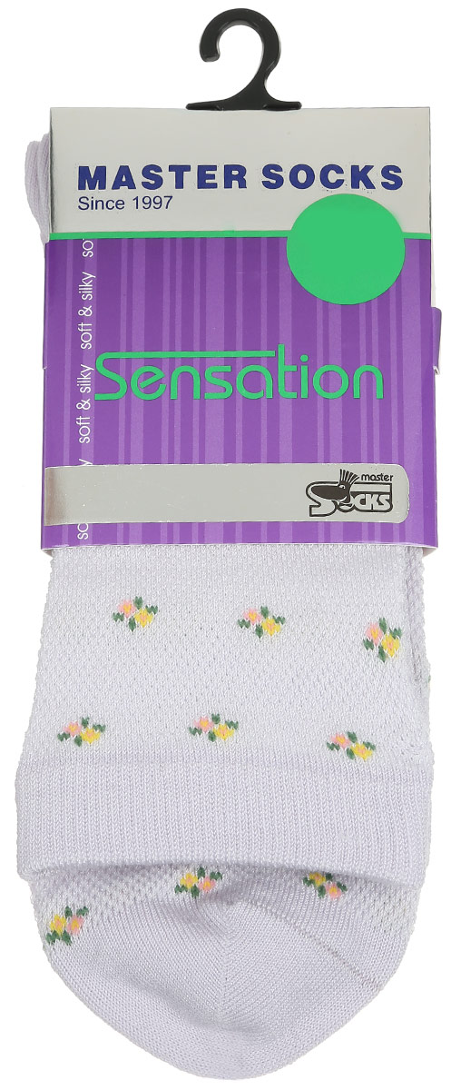 Носки женские Master Socks, цвет: светло-сиреневый. 85702. Размер 2585702Удобные носки Master Socks, изготовленные из высококачественного комбинированного материала, очень мягкие и приятные на ощупь, позволяют коже дышать.Эластичная резинка плотно облегает ногу, не сдавливая ее, обеспечивая комфорт и удобство. Носки цветочным орнаментом и дополнены перфорацией.Практичные и комфортные носки великолепно подойдут к любой вашей обуви.