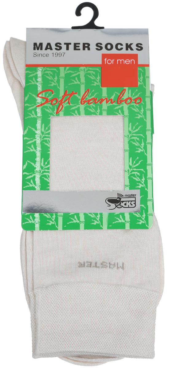 Носки мужские Master Socks, цвет: бежевый. 88604. Размер 2588604Удобные носки Master Socks, изготовленные из высококачественного комбинированного материала, очень мягкие и приятные на ощупь, позволяют коже дышать. Эластичная резинка плотно облегает ногу, не сдавливая ее, обеспечивая комфорт и удобство. Носки с паголенком классической длины и надписью Master в верхней части носка. Практичные и комфортные носки великолепно подойдут к любой вашей обуви.