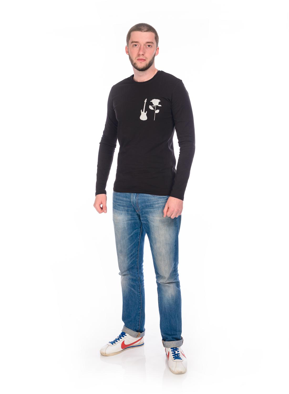 Лонгслив мужской RAV, цвет: черный. RAV01-027. Размер S (46)  джемпер мужской rav rav01 022