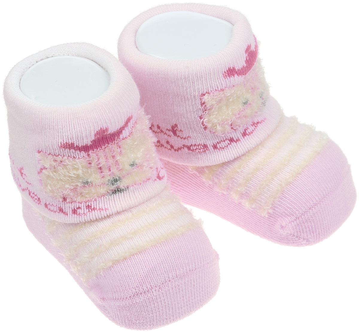 Носки детские Master Socks, цвет: розовый. 82014. Размер 882014Детские носки Master Socks изготовлены из высококачественного материала. Широкая резинка мягко облегает ножку, не сдавливая ее, благодаря чему ребенку будет комфортно и удобно. Усиленные пятка и мысок обеспечивают надежность и долговечность. Модель оформлена фактурными полосками, украшена объемным изображением котика.Такие носочки станут отличным дополнением к гардеробу ребенка! Уважаемые клиенты!Размер, доступный для заказа, является длиной стопы.