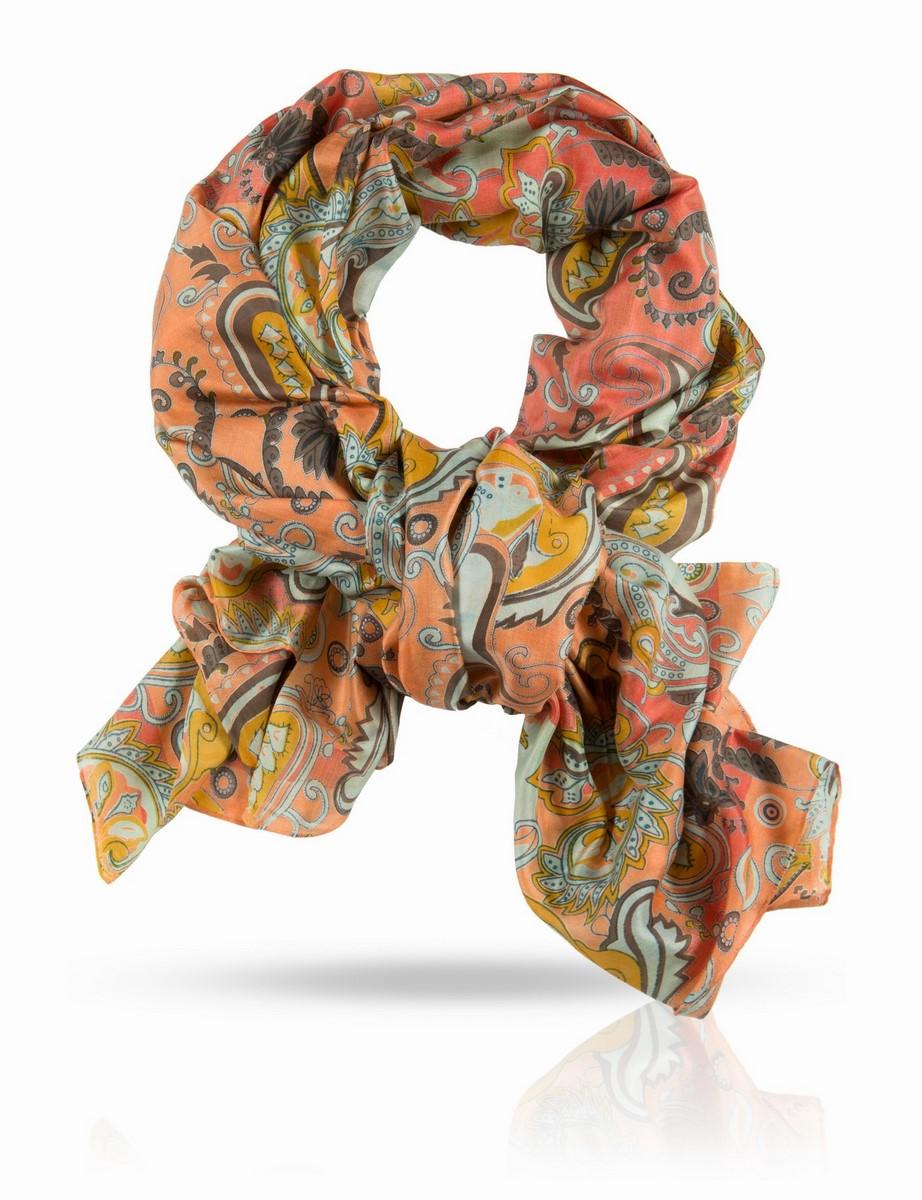Палантин Michel Katana, цвет: розовый, желтый, голубой, коричневый. SN-PAYSLEY/PINK. Размер 110 x 190 смSN-PAYSLEY/PINKПалантин выполнен из натурального шелка ручного плетения.Радостный вихрь теплых тонов! Этот палантин вызывает прилив позитивных эмоций у всех, кто его видит. Надев его, вы подарите себе нежную ласку натурального шёлка, невероятную энергетику и уверенность - и еще раз напомните всем окружающим о том, как прекрасна жизнь.